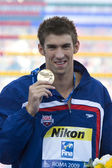 SWM: World Aquatics Championship - Ceremony mens 200m butterfly. Michael Phelps. — Stock Photo