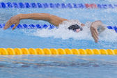 Swm: simsport Vm - mens 4 x 100 m medley final. Michael phelps. — Stockfoto