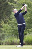 Robert Dinwiddie (GBR) in action on the second day of the European Tour. — Stock Photo