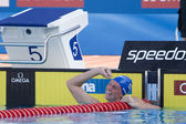 SWM: World Aquatics Championship - Womens 100m backstroke final. Gemma Spofforth. — Stock Photo