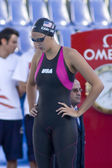 SWM: World Aquatics Championship - Womens 100m breaststroke semi final. Kasey Carlsson. — Stock Photo