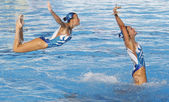 SWM: World Championship women's team sychronised swimming. — Stock Photo
