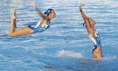 SWM: World Championship women's team sychronised swimming. — Stock Photo