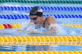 Swm: чемпионат мира по водным видам спорта - женские 100 м брассом финал. ребекка сони. — Стоковое фото