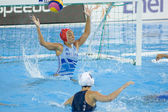 WPO: World Aquatic Championships - USA vs Greece. Maria Tsouri. — Stock Photo