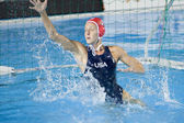 WPO: World Aquatics Championship - USA vs Greece semi final. Elizabeth Armstrong. — ストック写真
