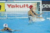 WPO: World Aquatic Championships - USA vs Greece. Elizabeth Armstrong. — Stock Photo