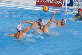 WPO: USA v Macedonia, 13th World Aquatics championships Rome 09. Ronald Beaubien. — Stock Photo