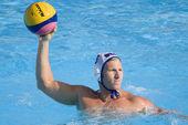 WPO: USA v Macedonia, 13th World Aquatics championships Rome 09. Brian Alexander. — Stock Photo