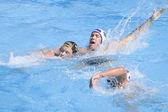 Wpo: campeonato mundial de natación - estados unidos vs alemania. andreas schlotterbeck. — Foto de Stock