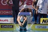 Swm: мировой чемпионат водных видов спорта - смесь воли 4 x 100 м. matthew grevers. — Стоковое фото