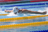 SWM: World Aquatics Championship - Mens 200m butterfly qualifier. Scott Clary. — Stock Photo