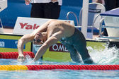 SWM: World Aquatics Championship - Mens 100m backstroke. Aaron Peirsol. — Stock Photo