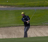 Pelle Edberg (SWE) in action on the first day of the European Tour, 14th Open de Saint-Omer — Stock Photo