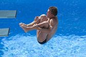 Div: sista 3m mäns dykning konkurrens. chris colwill. — Stockfoto