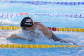 SWM: World Aquatics Championship - Mens 100m breaststroke final. Eric Shanteau. — Stock Photo