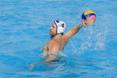 WPO: USA v Macedonia, 13th World Aquatics championships Rome 09.Jeffrey Powers. — Stock Photo