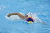 WPO: World Aquatic Championships - USA vs Greece. Alison Gregorka. — Stock Photo