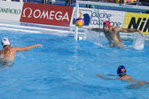 WPO: USA v Macedonia, 13th World Aquatics championships Rome 09. Dalibor Percinic Macedonia — Stock Photo