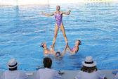 SWM: World Championship women's team sychronised swimming. Team Belarus. — Stock Photo