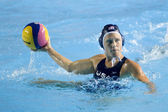 WPO: World Aquatics Championship - USA vs Greece semi final. Heather Petri. — Stock Photo