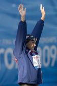 SWM: World Aquatics Championship - Womens 50m breaststroke semi final. Kasey Carlson. — Stock Photo