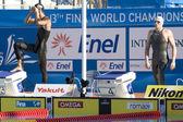 Swm: Чемпионат мира по водным видам спорта - Мужская 200 м вольным стилем окончательный. Майкл Фелпс. — Стоковое фото