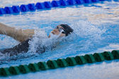 SWM: World Aquatics Championship - Womens 200m backstroke final. Elizabeth Pelton. — Stock Photo