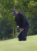 GOLF: Open de Saint Omer 2010. James Kamte (RSA) in action on the preview day of the European Tour. — Stock Photo