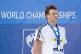 Swm: чемпионат мира по водным видам спорта - мужская 200 м вольным стилем окончательный. би́дерман. — Стоковое фото