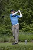 Mark Haastrup (DEN) in action on the third day of the European Tour — Stock Photo