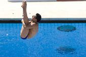 DIV: Final 3m mens diving competition — ストック写真