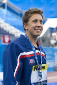SWM: World Aquatics Championship - Ceremony mens 50m breaststroke — Stock Photo
