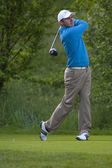 Colm Moriarty (IRL) in action on the first day of the European Tour — Stock Photo