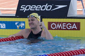 SWM: World Aquatics Championship - Mens 100m breaststroke final. Brenton Rickard — Stock Photo