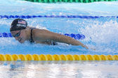 SWM: World Aquatics Championship - Womens 100m butterfly final. Dana Vollmer — Stock Photo