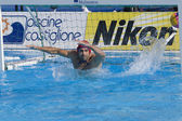 WPO: USA v Macedonia, 13th World Aquatics championships Rome 09. Dalibor Percinic — Foto de Stock