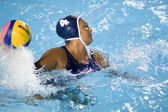 WPO: World Aquatics Championship - USA vs Greece semi final. Brenda Villa — Stock fotografie