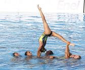 SWM: World Championship womens team sychronised swimming — Stock Photo