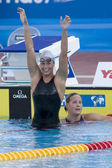 SWM: World Aquatics Championship - Womens 400m freestyle final. Federica Pellegrina — Stock Photo