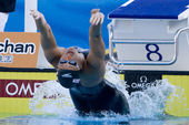 SWM: World Aquatics Championship - Womens 100m backstroke final. Hayley McGregor — Stock Photo