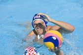 WPO: World Aquatics Championship - USA vs Croatia. Timothy Hutten. Andro Buslje — Foto Stock