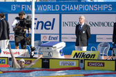 SWM: World Aquatics Championship - Mens 200m freestyle final. Paul Biedermann ( — Stockfoto