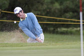 Damien Perrier (FRA) in action on the second day of the European Tour — Stock Photo