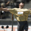 ATH: Berlin Golden League Athletics.  Gerd KANTER (EST) competing in the  discus — Stock Photo