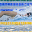 Постер, плакат: SWM: World Aquatics Championship Womens 200m freestyle semi final Allison Schmitt USA competing in the womens 200m freestyle