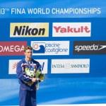 DIV: Final 3m men diving competition. Troy Dumais — Stock Photo