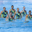 SWM: World Championship women team sychronised swimming — 图库照片