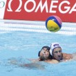 WPO.  World Aquatic Championships - USA vs Romania. Brian Alexander, Nicolae Diaconu — Stock Photo