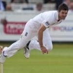 Постер, плакат: Cricket England vs Bangladesh 1st test day 3 James Anderson